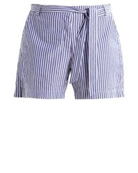 Pantalones Cortos de Rayas Verticales Celestes de Junarose