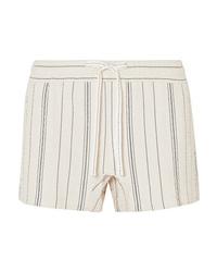 Pantalones cortos de rayas verticales en beige de See by Chloe