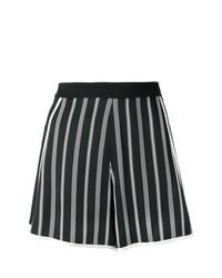 Pantalones cortos de rayas verticales en negro y blanco de Lanvin