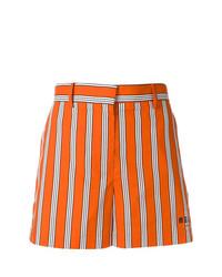Pantalones cortos de rayas verticales naranjas de MSGM