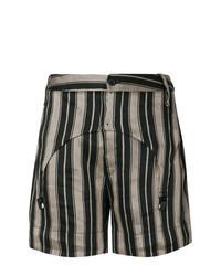 Pantalones cortos de rayas verticales negros