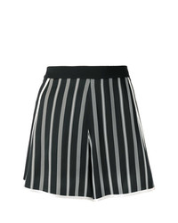 Pantalones Cortos de Rayas Verticales Negros y Blancos de Lanvin