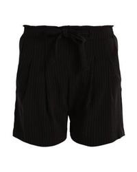 Pantalones cortos de rayas verticales negros de Jdy