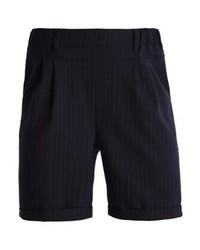 Pantalones cortos de rayas verticales negros de Kaffe