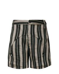 Pantalones cortos de rayas verticales negros de Lost & Found Ria Dunn