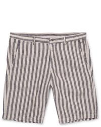 Pantalones cortos de rayas verticales negros de Massimo Alba