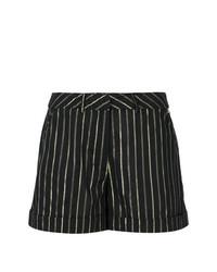 Pantalones cortos de rayas verticales negros de Twin-Set