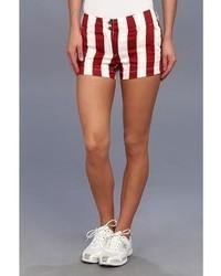 Pantalones cortos de rayas verticales rojos