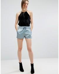 Pantalones Cortos de Satén Azul Marino de Asos
