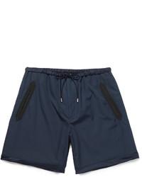 Pantalones Cortos de Seda Azul Marino de Gucci