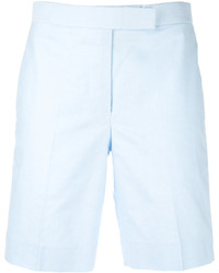 Pantalones cortos de seda celestes de Thom Browne