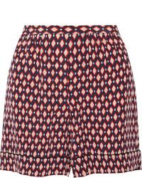 Pantalones cortos de seda estampados rojos de Marc Jacobs