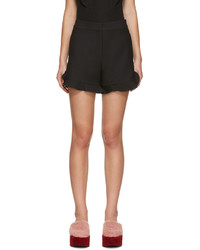 Pantalones cortos de seda negros de Fendi