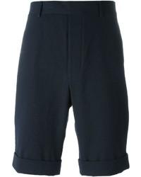 Pantalones Cortos de Seersucker Azul Marino de Officine Generale