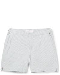 Pantalones Cortos de Seersucker Grises de Orlebar Brown