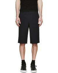 Pantalones Cortos de Seersucker Negros de Givenchy