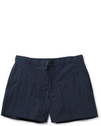 Pantalones cortos de tartán azul marino
