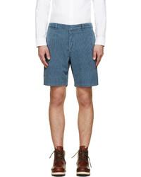 Pantalones cortos de tartán azules de VISVIM