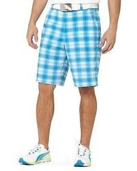 Pantalones cortos de tartán en turquesa