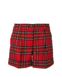 Pantalones cortos de tartán rojos de P.A.R.O.S.H.