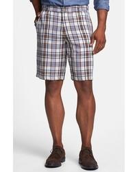 Pantalones cortos de tartán violeta claro