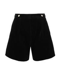 Pantalones cortos de terciopelo con adornos negros de Mother of Pearl