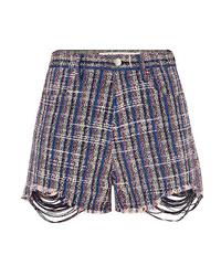 Pantalones cortos de tweed azul marino de IRO