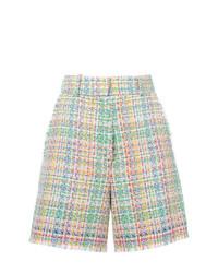 Pantalones cortos de tweed en multicolor de Thom Browne