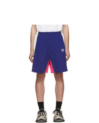 Pantalones cortos deportivos bordados azul marino de Vetements