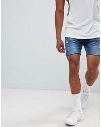 Pantalones cortos desgastados azules de Brave Soul