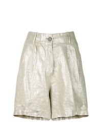 Pantalones Cortos Dorados de Forte Forte