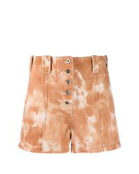 Pantalones cortos efecto teñido anudado marrón claro de 3.1 Phillip Lim
