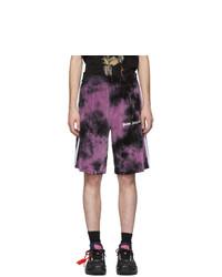 Pantalones cortos efecto teñido anudado morado de Palm Angels