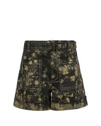 Pantalones cortos efecto teñido anudado negros de Proenza Schouler