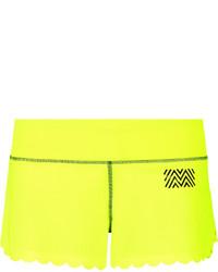 Pantalones cortos en amarillo verdoso