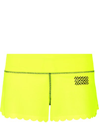 Pantalones cortos en amarillo verdoso de Monreal London