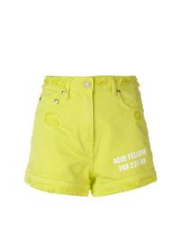 Pantalones cortos en amarillo verdoso de MSGM