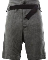 Pantalones cortos en gris oscuro de Ann Demeulemeester