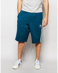Pantalones cortos en verde azulado de adidas