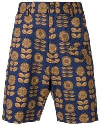 Pantalones cortos estampados azul marino de Engineered Garments