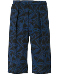 Pantalones cortos estampados azul marino de Giorgio Armani