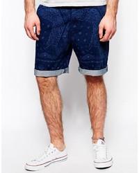Pantalones cortos estampados azul marino de Lee