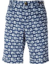 Pantalones cortos estampados azul marino de Pt01