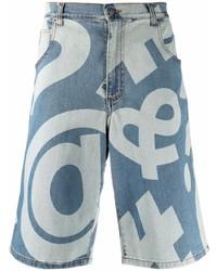 Pantalones cortos estampados azules de Moschino