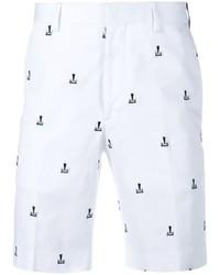 Pantalones cortos estampados blancos de Fendi
