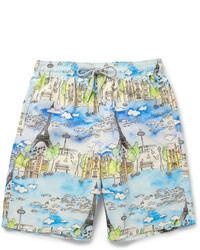 Pantalones cortos estampados celestes