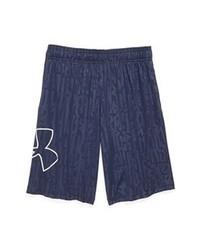Pantalones cortos estampados en azul marino y blanco
