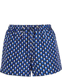 Pantalones cortos estampados en azul marino y blanco de Diane von Furstenberg