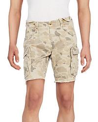 Pantalones Cortos Estampados en Beige