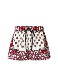 Pantalones cortos estampados en blanco y rojo de RED Valentino